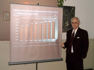 Financial Consultant John Roberts making an investment presentation to the general public