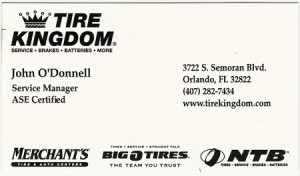 Great auto repair service at Tire Kingdom in Orlando